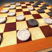 3d Checkers  Board 3d model