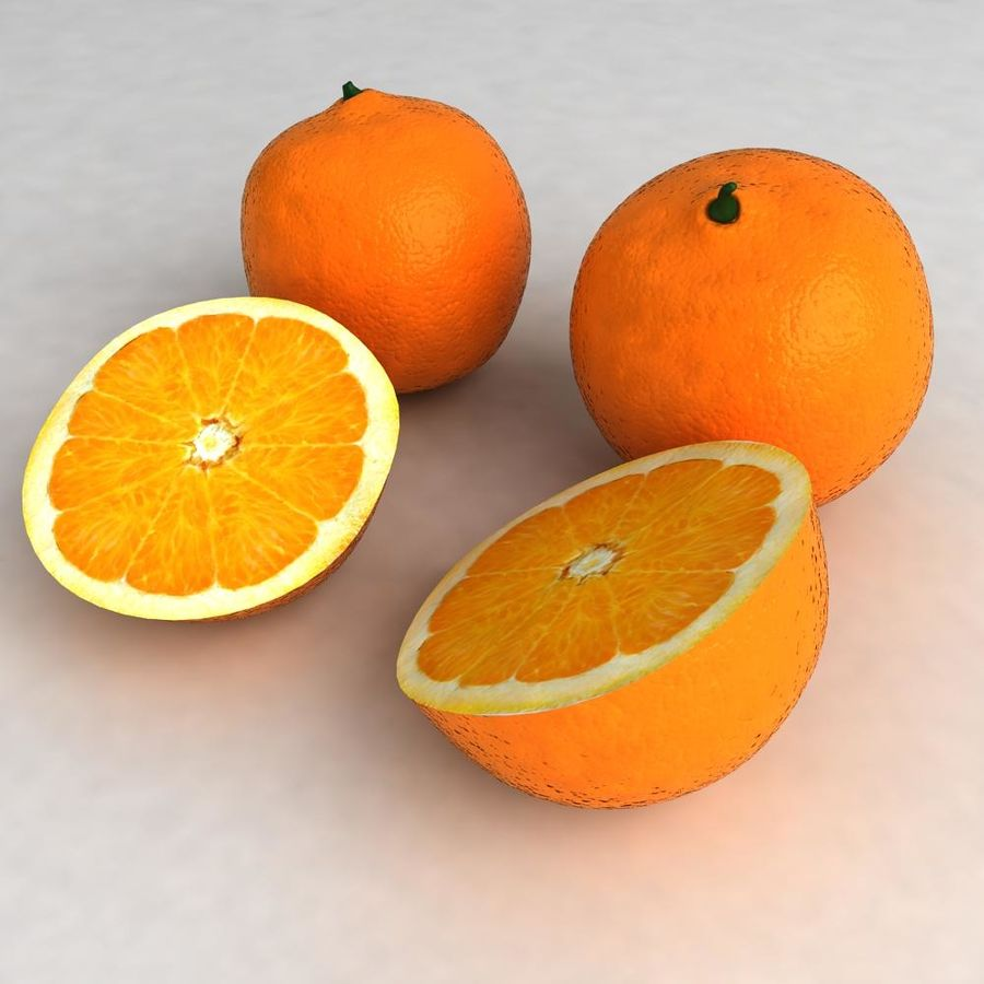 Oranges royalty-free 3d model - Preview no. 4