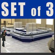 3 Gefriergeräte 3d model