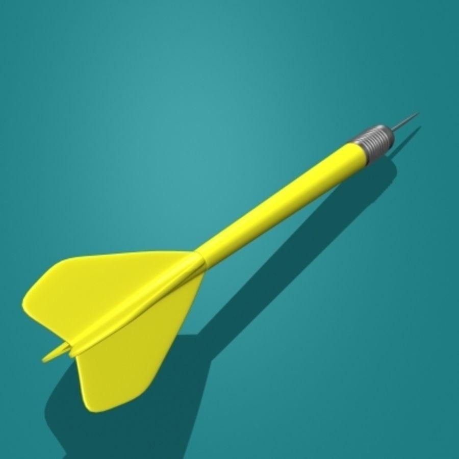 Placa de dardo e dardos royalty-free 3d model - Preview no. 10