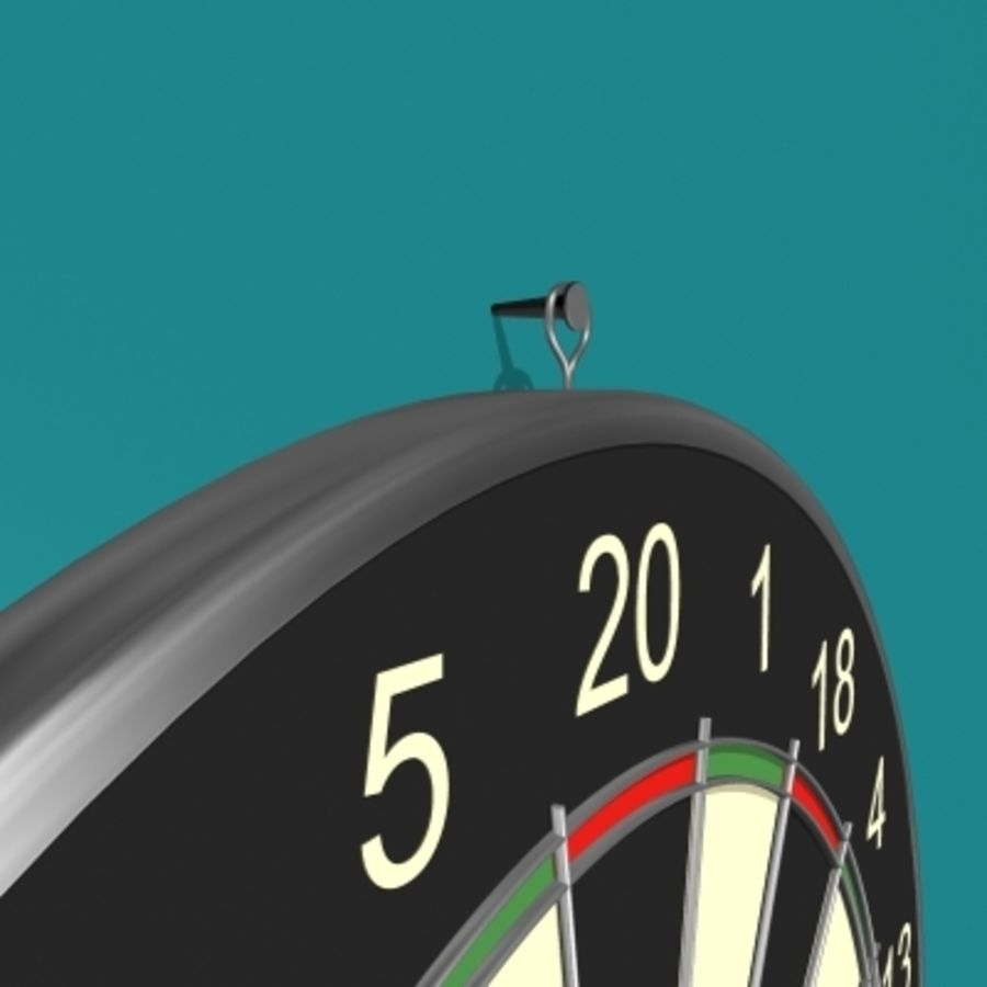 Placa de dardo e dardos royalty-free 3d model - Preview no. 6