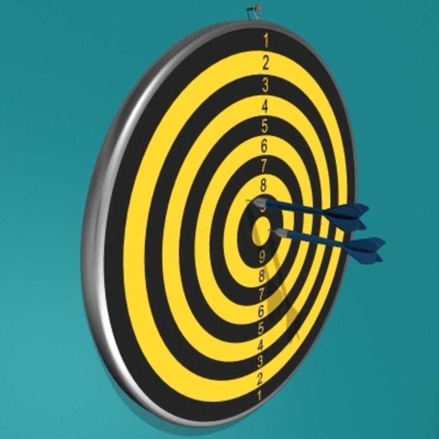 Placa de dardo e dardos royalty-free 3d model - Preview no. 2