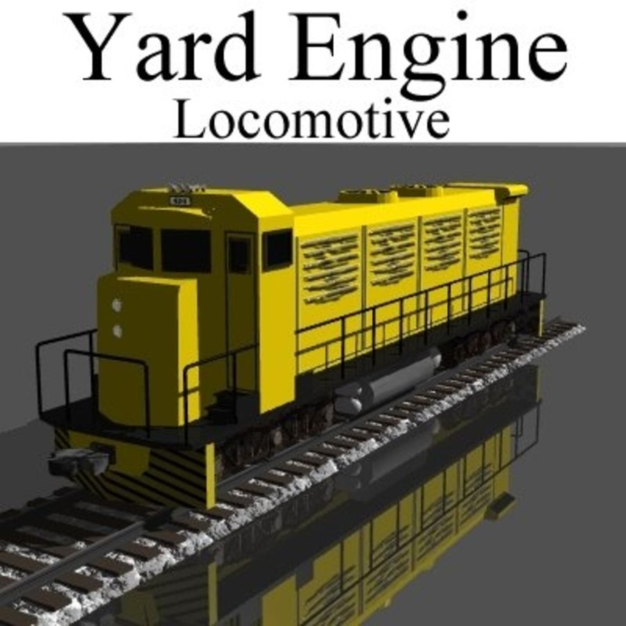 Yard Lokomotif royalty-free 3d model - Preview no. 1