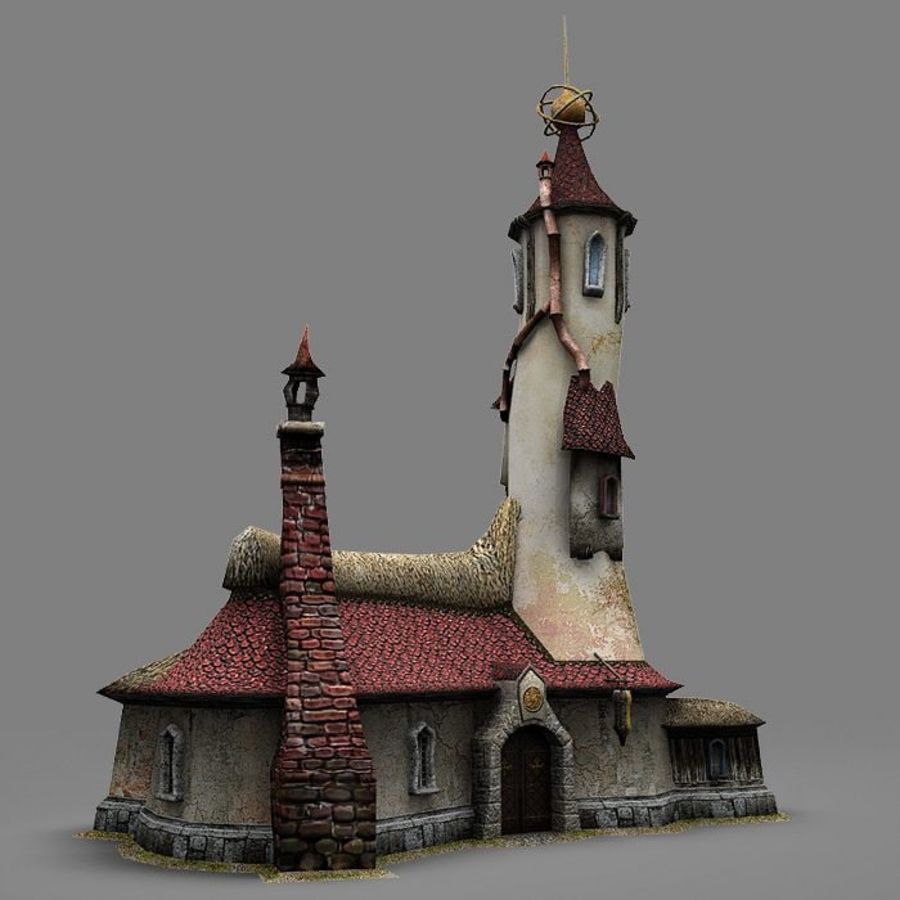 Wizard Shop royalty-free 3d model - Preview no. 8