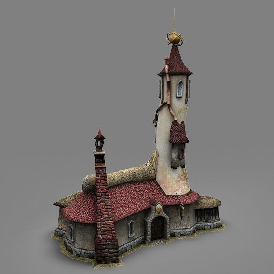 Wizard Shop royalty-free 3d model - Preview no. 7