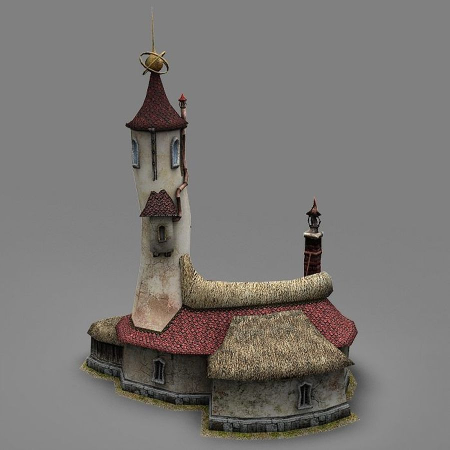 Wizard Shop royalty-free 3d model - Preview no. 5