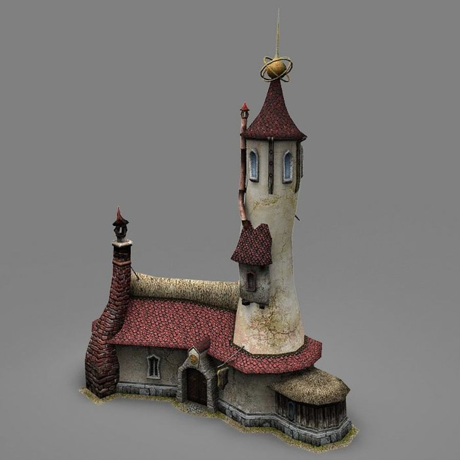 Wizard Shop royalty-free 3d model - Preview no. 2
