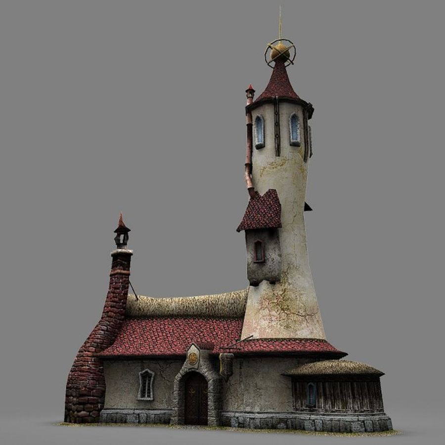 Wizard Shop royalty-free 3d model - Preview no. 9