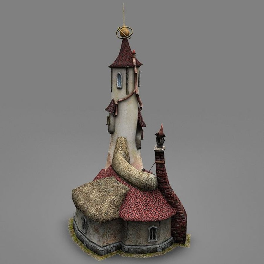 Wizard Shop royalty-free 3d model - Preview no. 6
