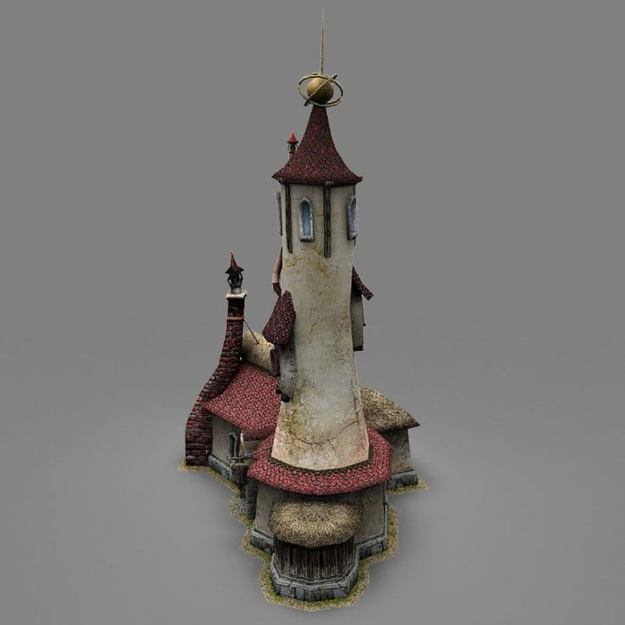 Wizard Shop royalty-free 3d model - Preview no. 3