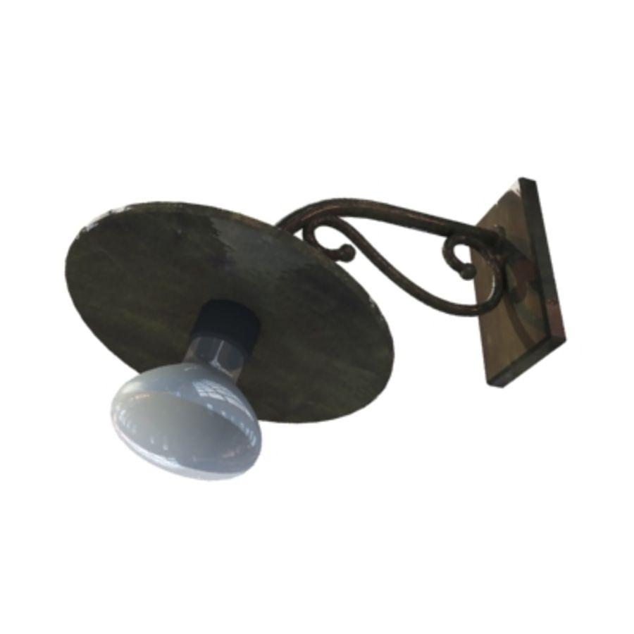 Bombilla de luz colgante royalty-free modelo 3d - Preview no. 3
