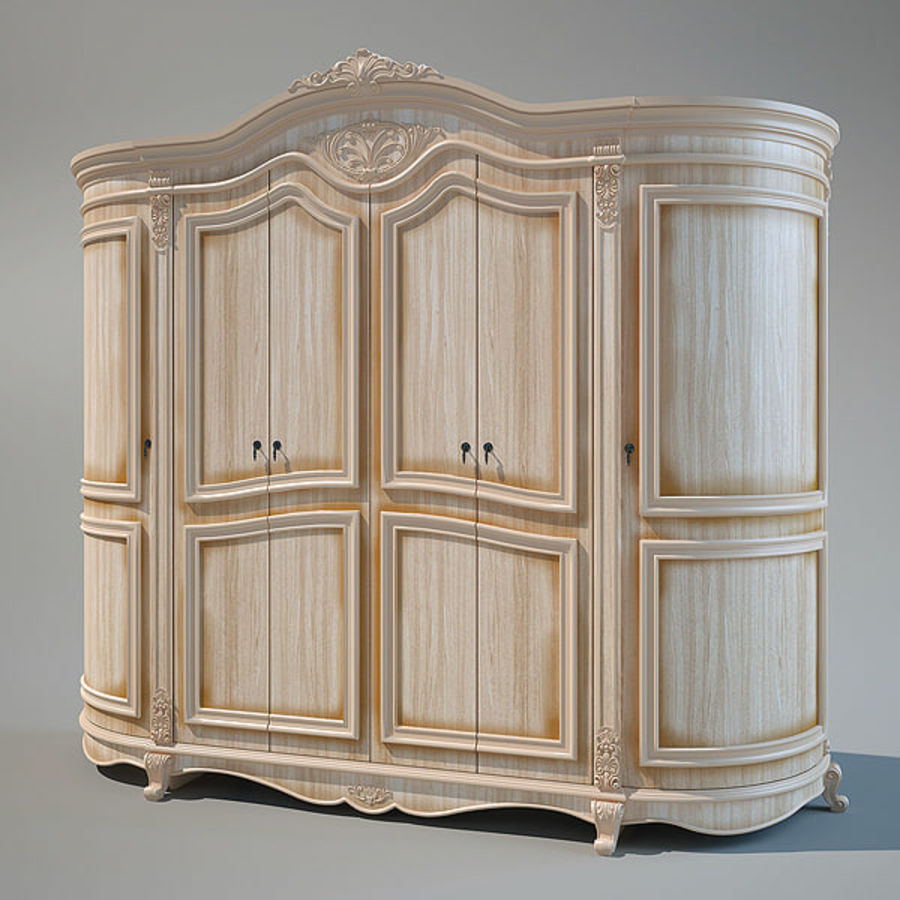 Wardrobe Cabinet royalty-free 3d model - Preview no. 1