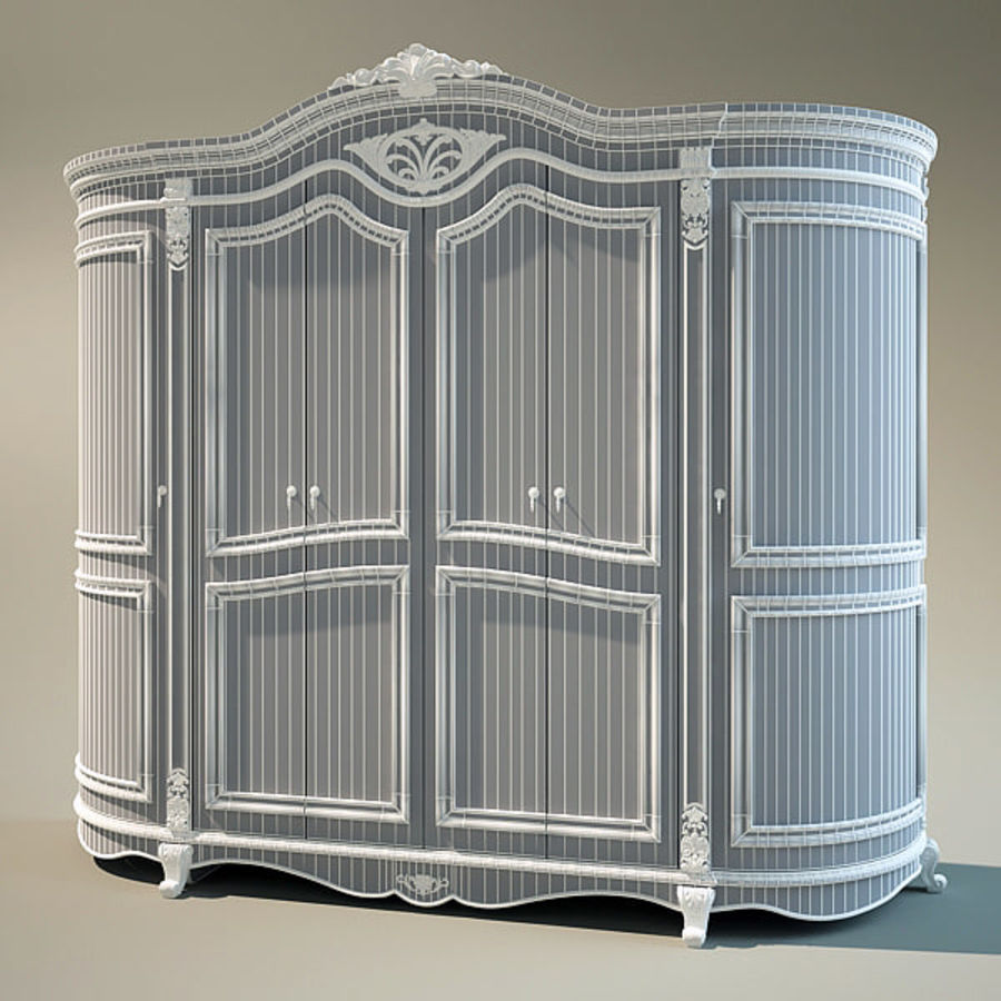 Wardrobe Cabinet royalty-free 3d model - Preview no. 4