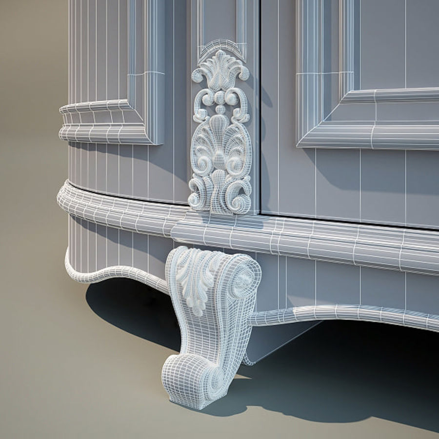 Wardrobe Cabinet royalty-free 3d model - Preview no. 6