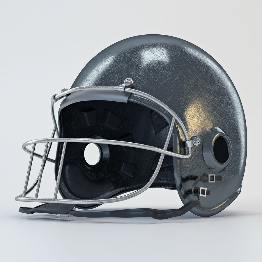 Football helm royalty-free 3d model - Preview no. 4
