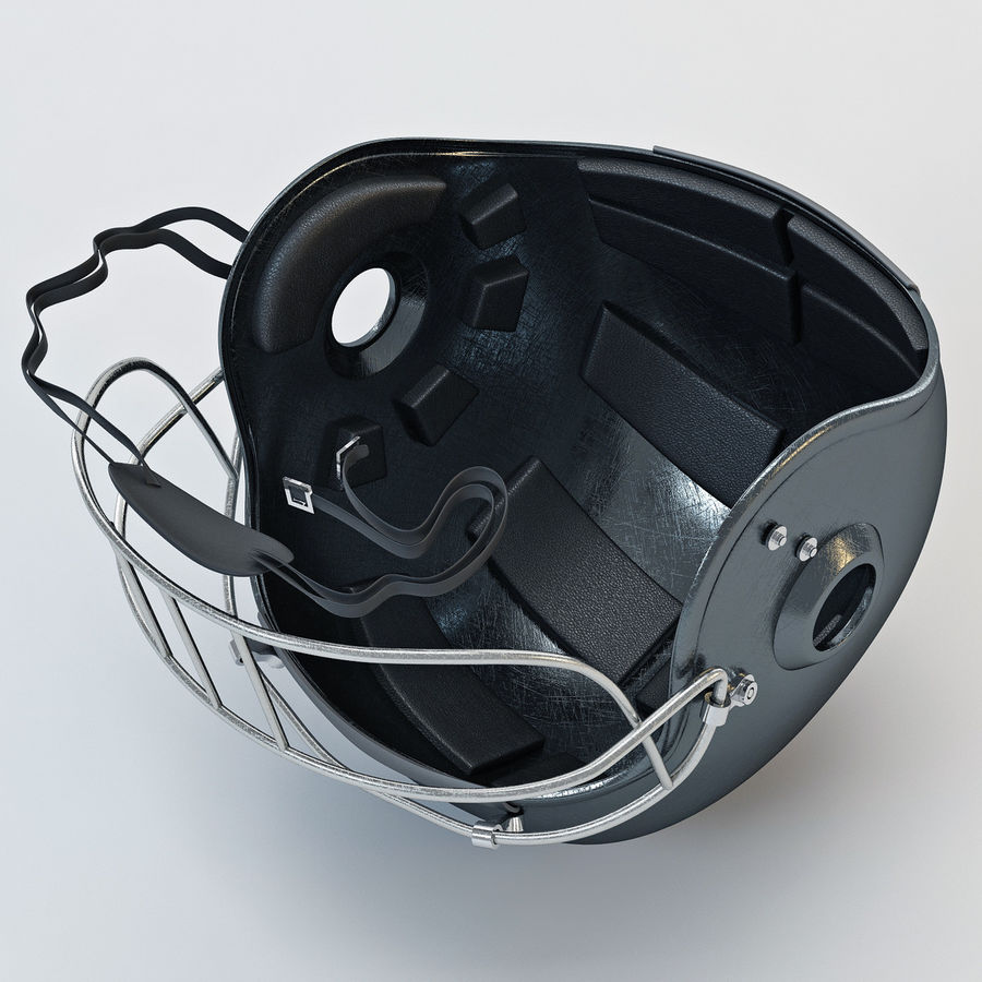 Football helm royalty-free 3d model - Preview no. 5