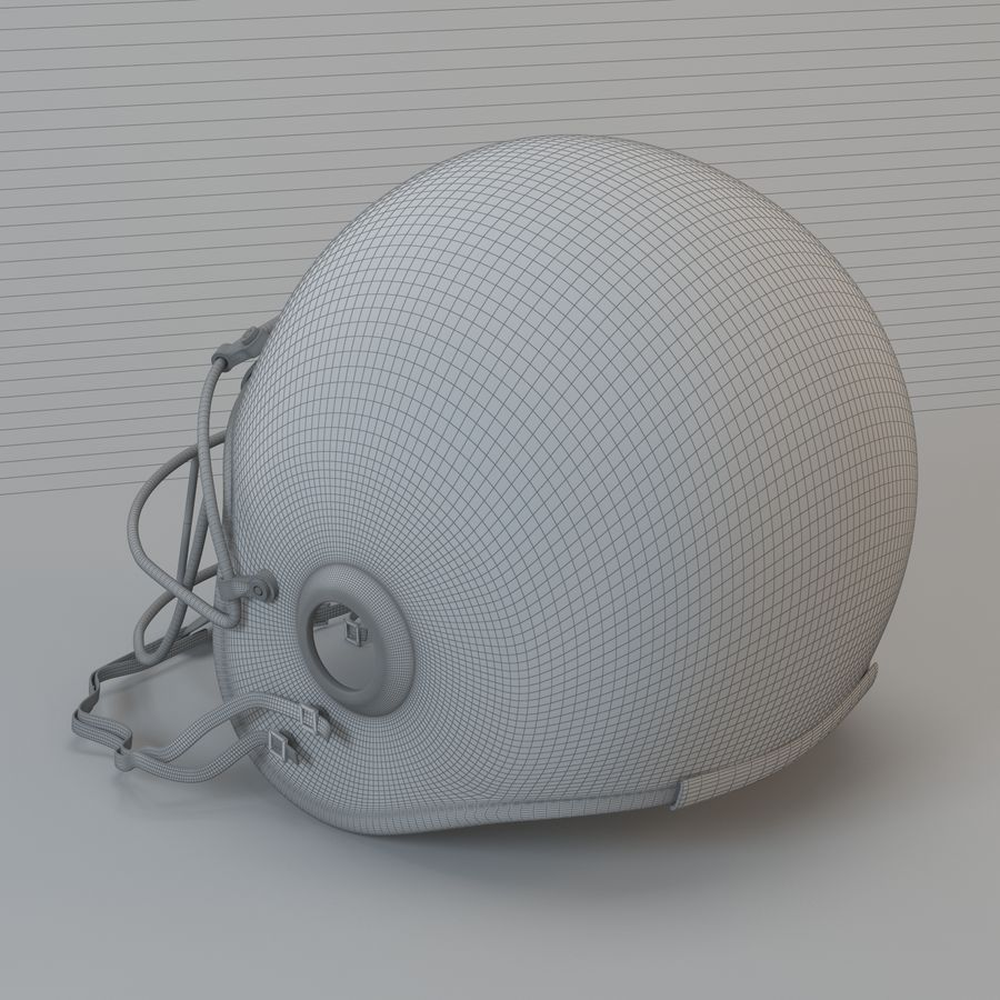 Football helm royalty-free 3d model - Preview no. 7