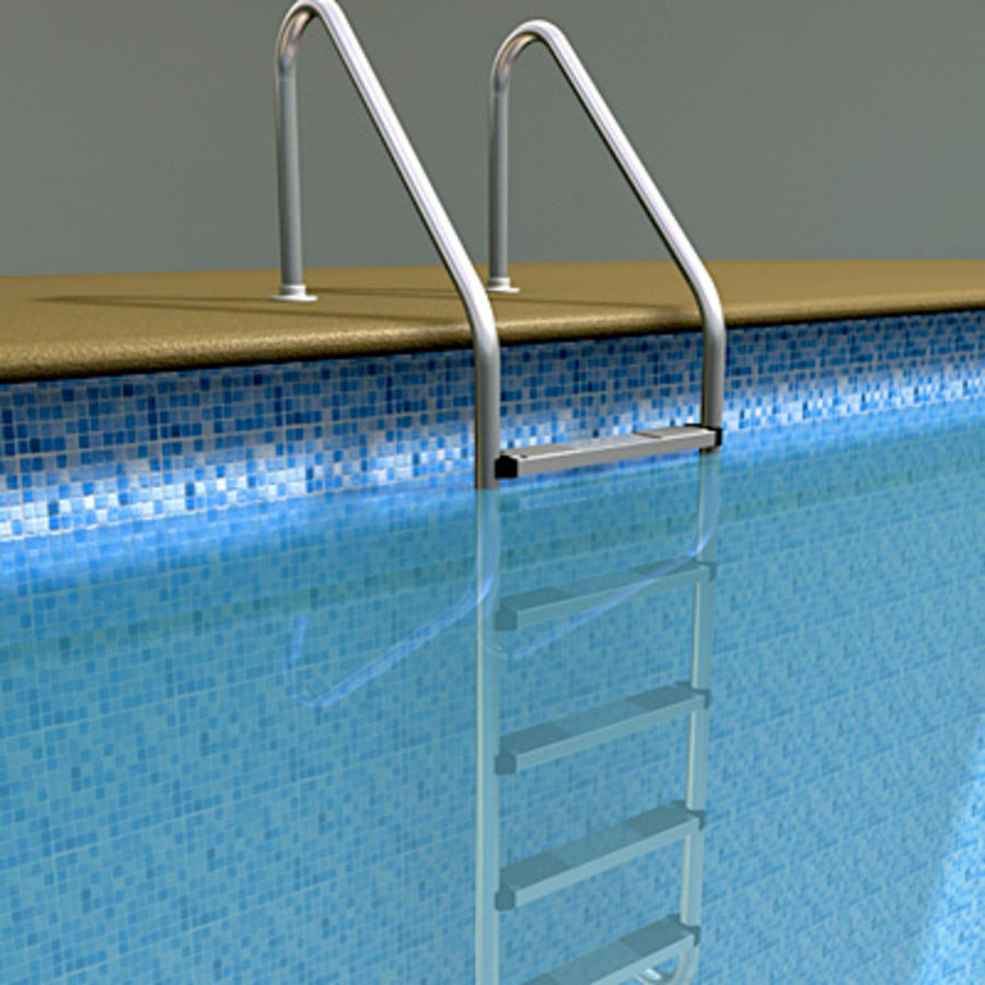Swimming Pool Ladder royalty-free 3d model - Preview no. 1