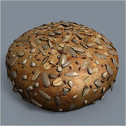Pogaca与种子 3d model