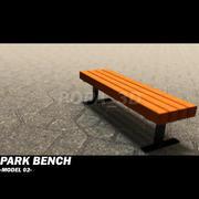 ławka parkowa 02 3d model