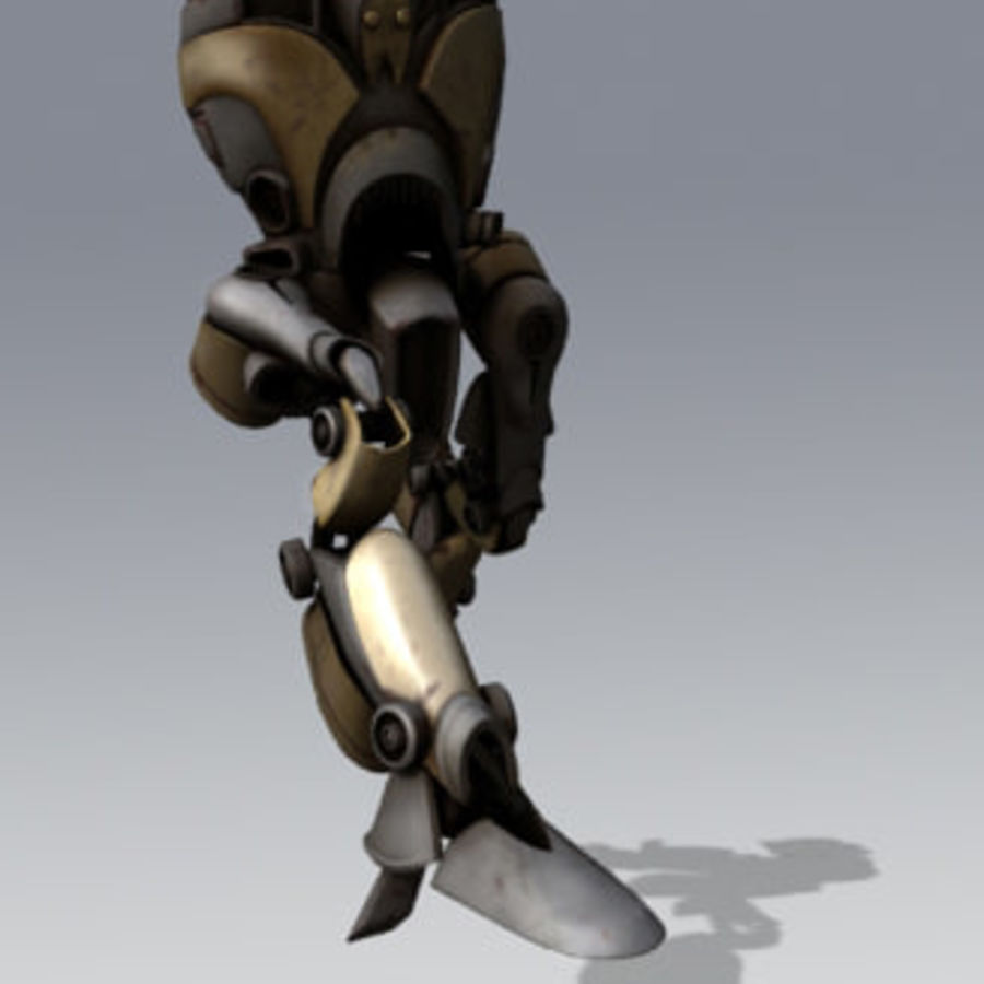 Devianticle robot rigged royalty-free 3d model - Preview no. 2