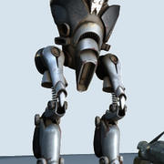 Devianticle robot rigged 3d model