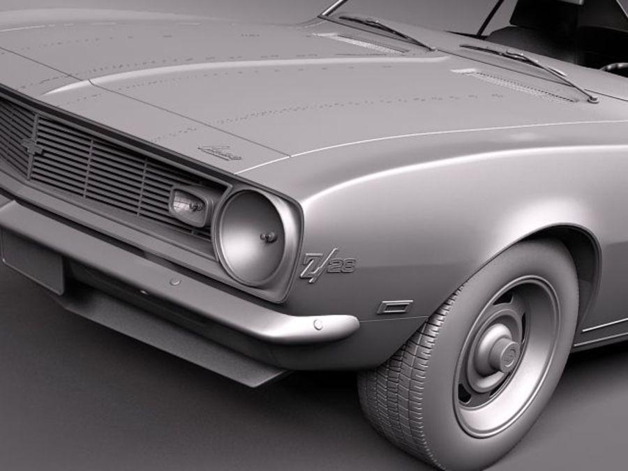 Chevrolet Camaro 1967 Z28 royalty-free 3d model - Preview no. 11