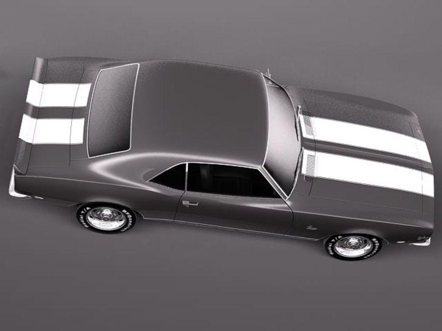 Chevrolet Camaro 1967 Z28 royalty-free modelo 3d - Preview no. 8