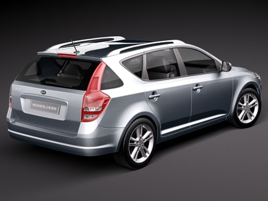 Kia Ceed SW royalty-free 3d model - Preview no. 5