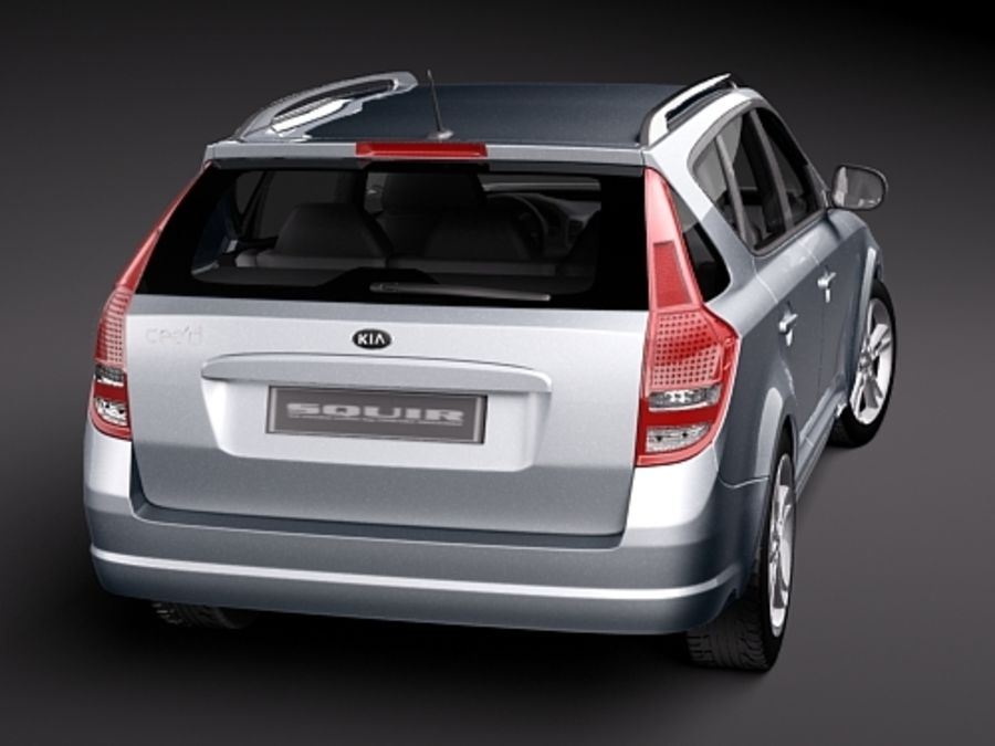 Kia Ceed SW royalty-free 3d model - Preview no. 6