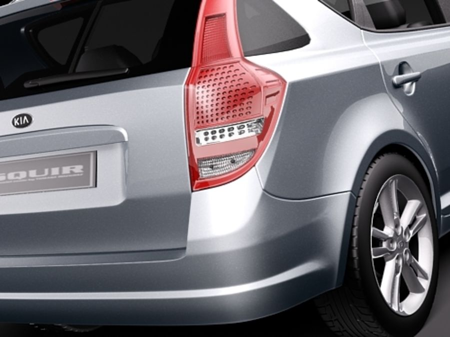 Kia Ceed SW royalty-free 3d model - Preview no. 4