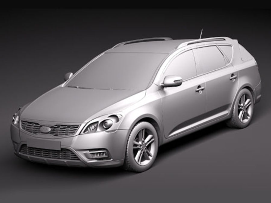 Kia Ceed SW royalty-free 3d model - Preview no. 9
