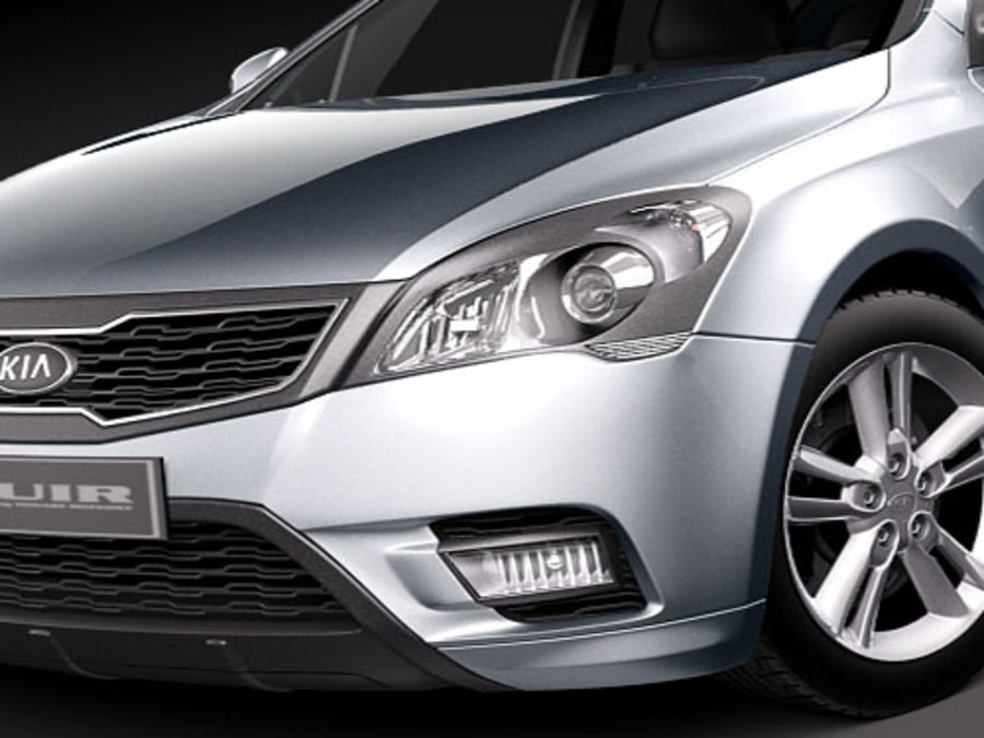 Kia Ceed SW royalty-free 3d model - Preview no. 3