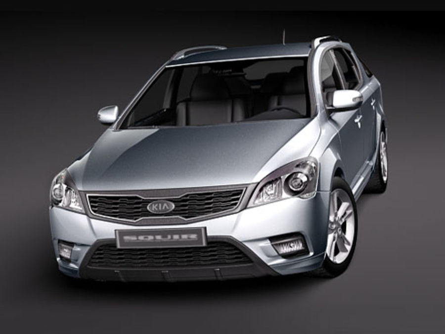 Kia Ceed SW royalty-free 3d model - Preview no. 2