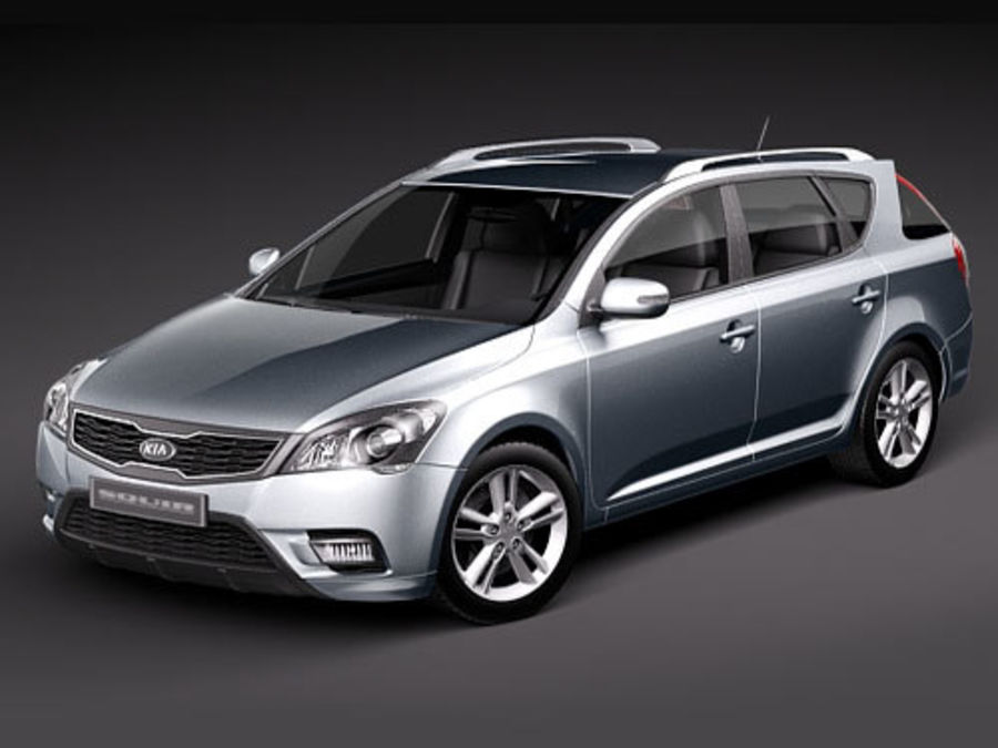 Kia Ceed SW royalty-free 3d model - Preview no. 1