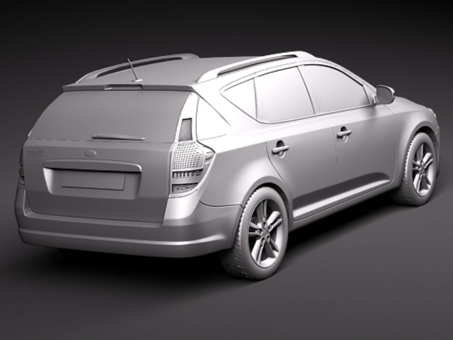 Kia Ceed SW royalty-free 3d model - Preview no. 12