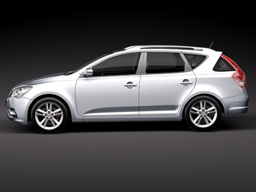 Kia Ceed SW royalty-free 3d model - Preview no. 7