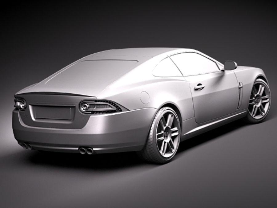 Jaguar XKR 2010-2012 royalty-free 3d model - Preview no. 12