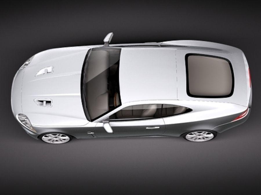 Jaguar XKR 2010-2012 royalty-free 3d model - Preview no. 8