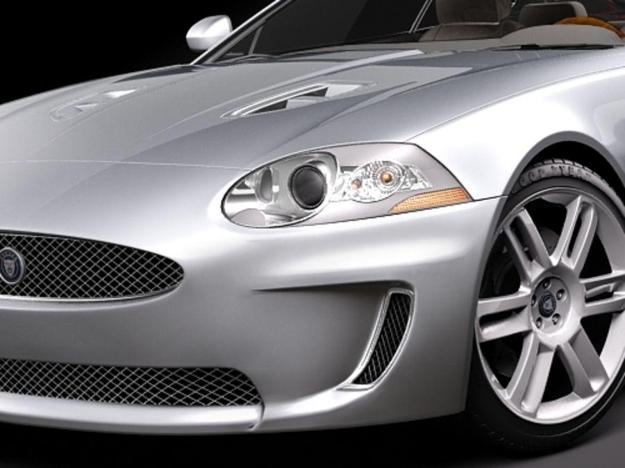 Jaguar XKR 2010-2012 royalty-free 3d model - Preview no. 3