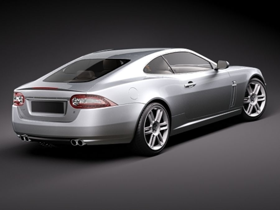 Jaguar XKR 2010-2012 royalty-free 3d model - Preview no. 5
