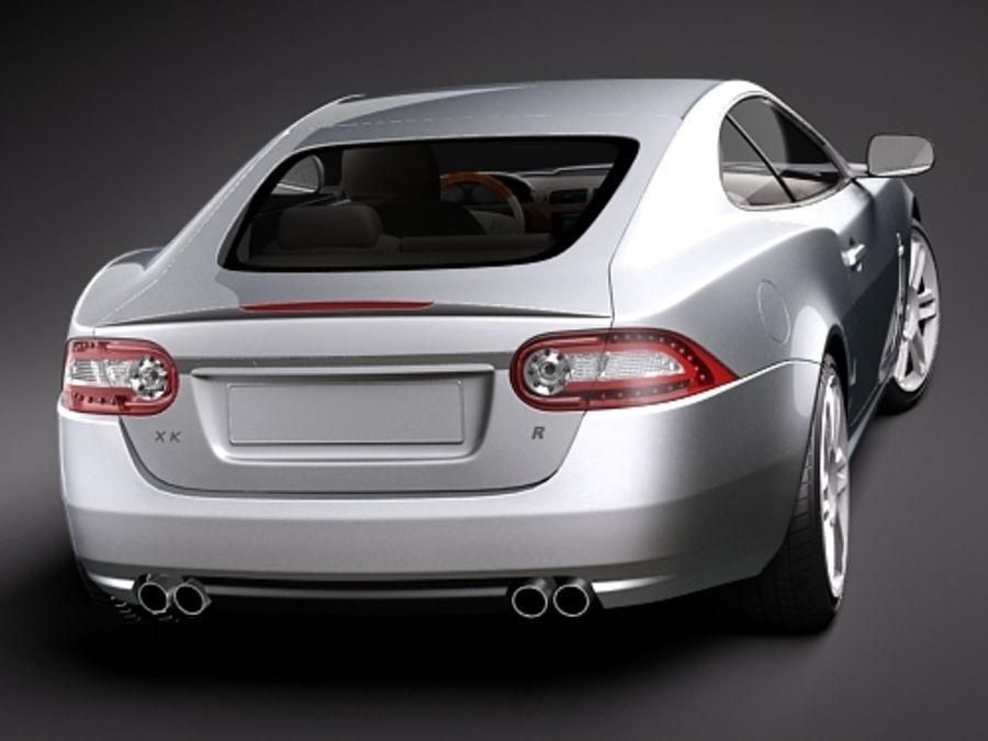 Jaguar XKR 2010-2012 royalty-free 3d model - Preview no. 6