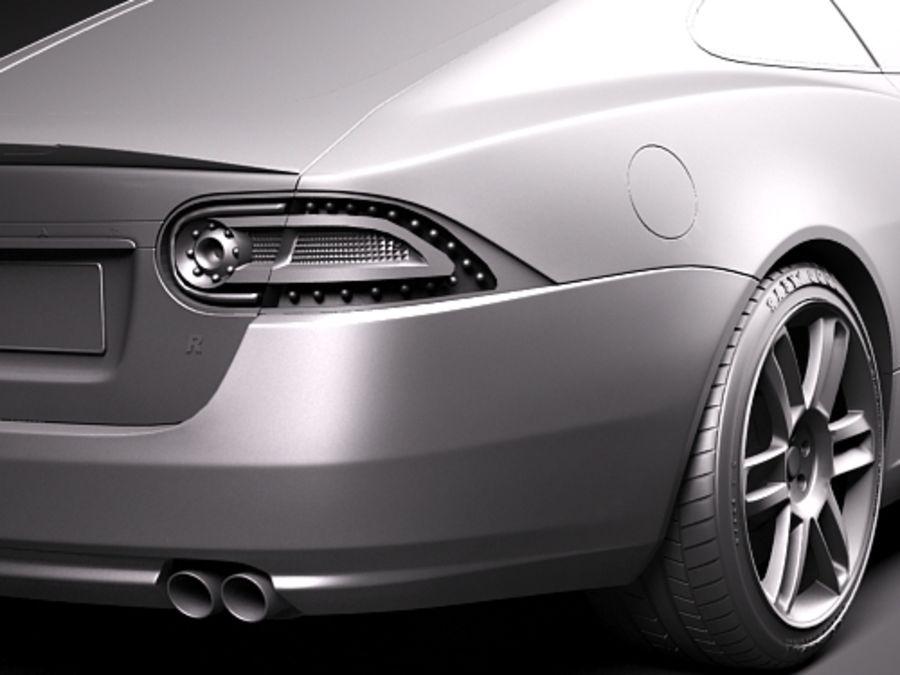 Jaguar XKR 2010-2012 royalty-free 3d model - Preview no. 11