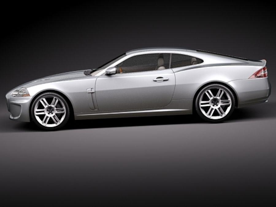 Jaguar XKR 2010-2012 royalty-free 3d model - Preview no. 7