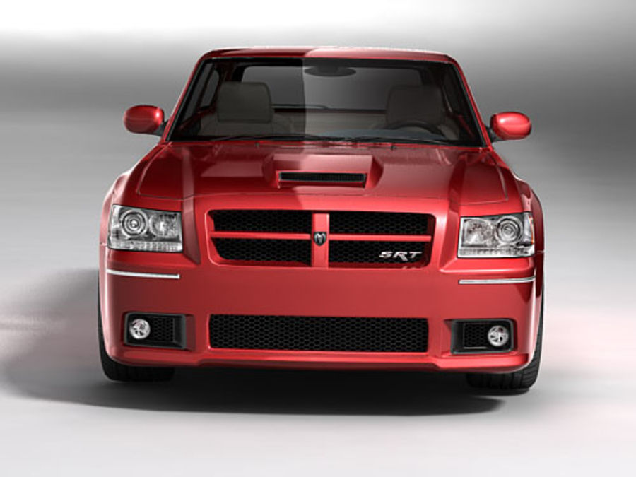 dodge magnum 2008 royalty-free 3d model - Preview no. 4