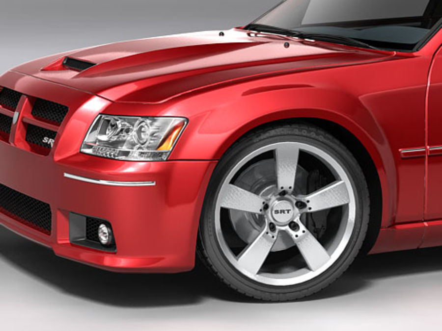 dodge magnum 2008 royalty-free 3d model - Preview no. 5
