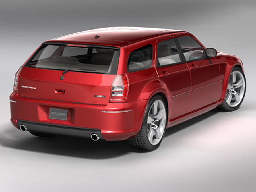 dodge magnum 2008 royalty-free 3d model - Preview no. 6