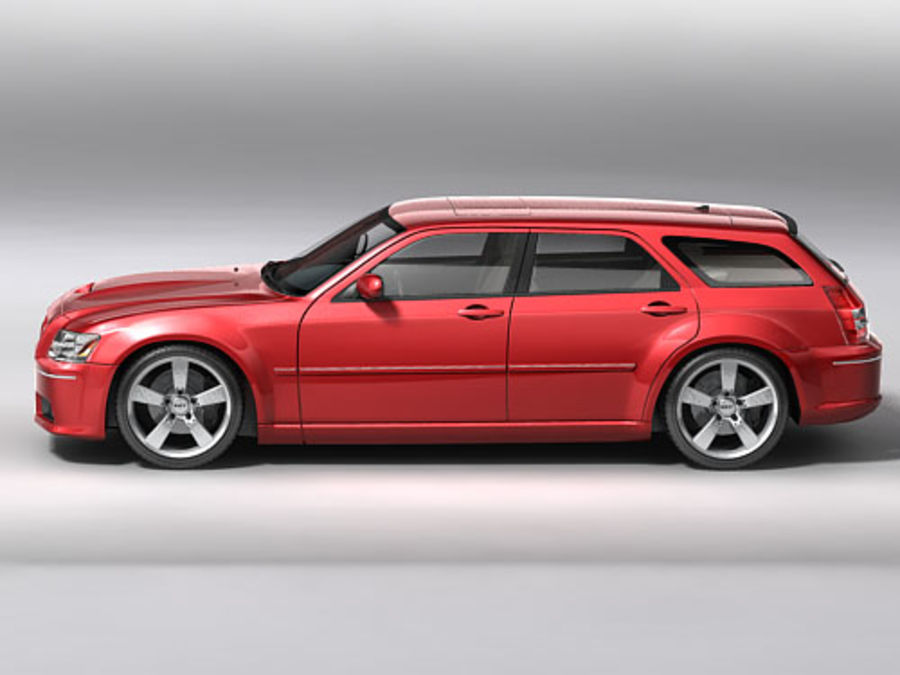 dodge magnum 2008 royalty-free 3d model - Preview no. 3