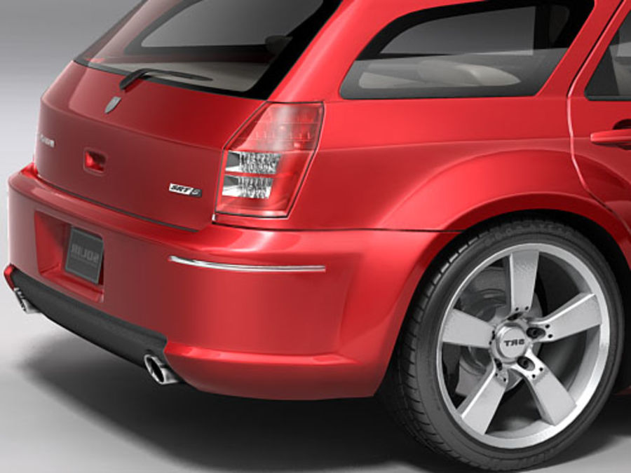 dodge magnum 2008 royalty-free 3d model - Preview no. 7