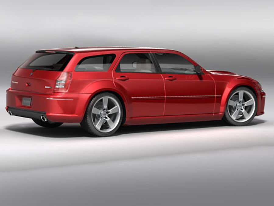dodge magnum 2008 royalty-free 3d model - Preview no. 2